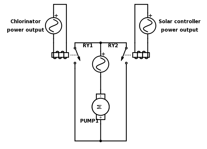 Mains OR gate schematic