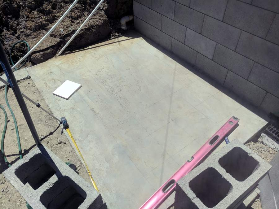 Concrete slab for stairs