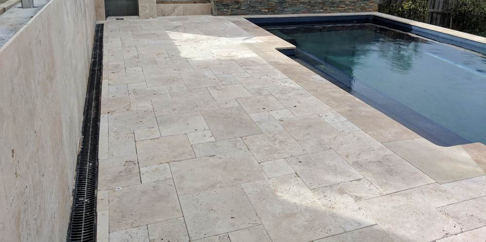 Completed pool deck