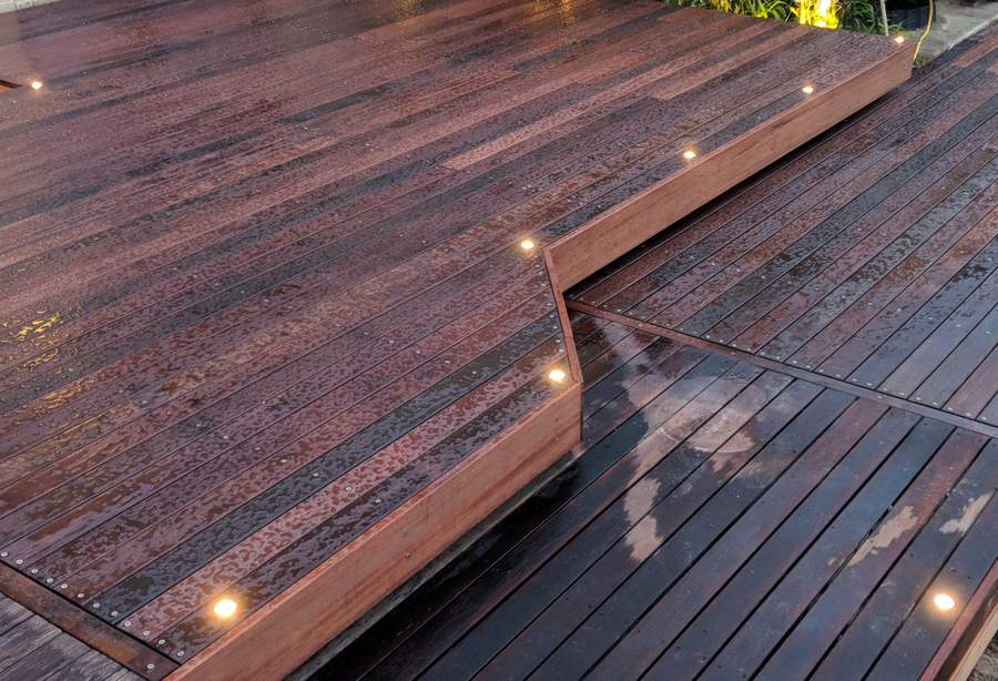 Deck lights on