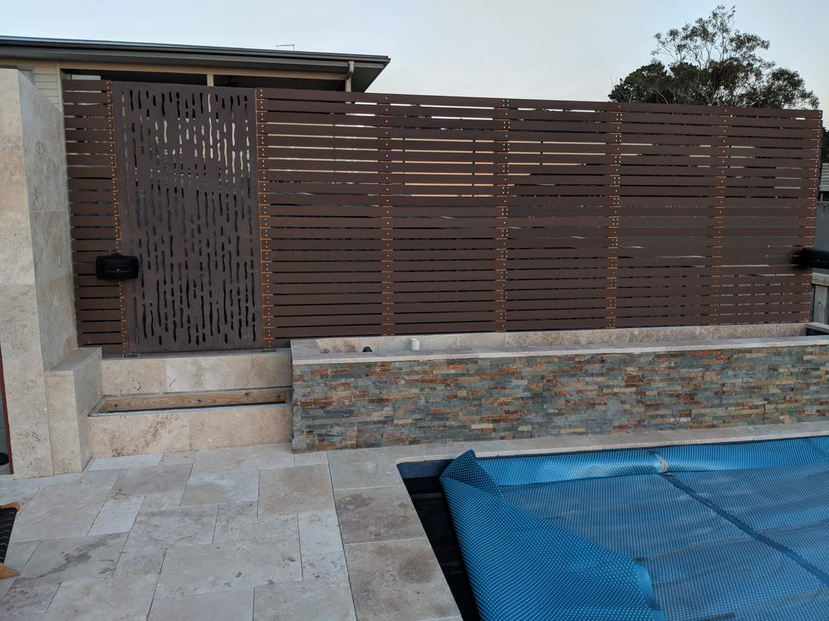 Completed privacy fence