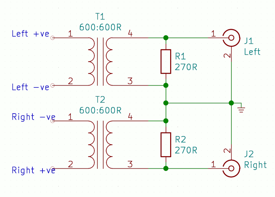 Differential to single-ended schematic